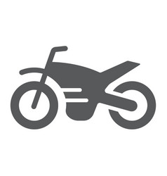 motorcycle glyph icon vehicle and cycle vector image
