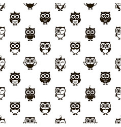 pattern with black owls vector image