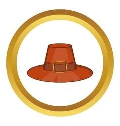 Piligrim hat icon vector image
