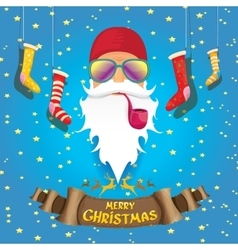 Rock n roll santa claus vector