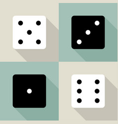 set dice icon vector image