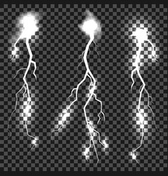set of different thunders vector image