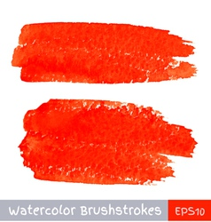 Set of Red Watercolor Brush Strokes vector image