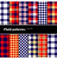 set plaid patterns see also other sets vector image