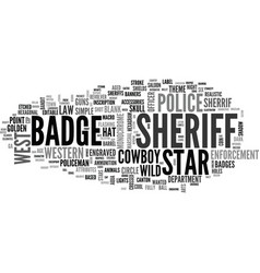Sheriff word cloud concept vector