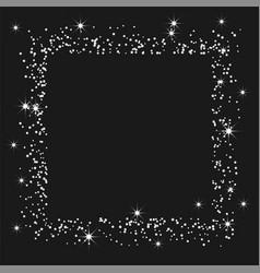 Silver confetti on a black background vector