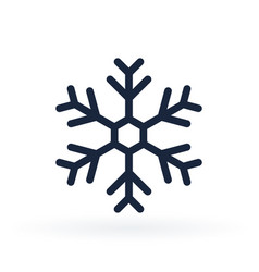 simple icon a snowflake in line style vector image