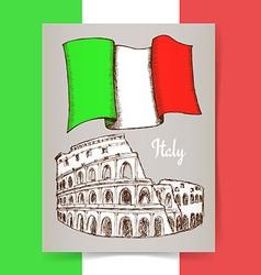 Sketch Italian poster vector image