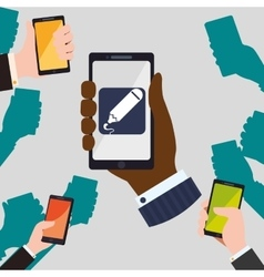 Smartphone design App icon White background vector