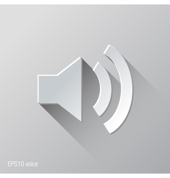 Speakers Voice Flat Icon Design vector image