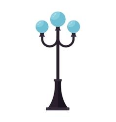 Street lamp silhouette vector image
