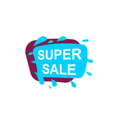 super sale speech bubble for retail promotion vector image