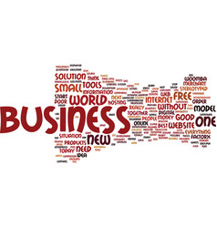 The new business model text background word cloud vector