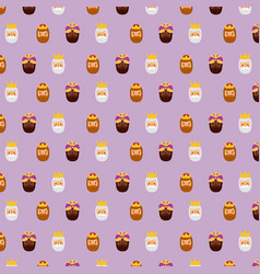 three kings of orient christmas pattern design vector image