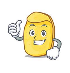 thumbs up potato chips character cartoon vector image
