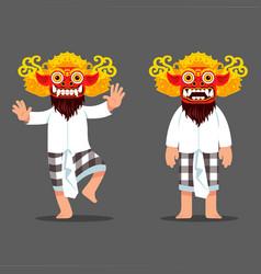 traditional balinese evil spirit mask dancer vector image