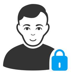 User locked icon vector