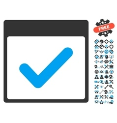 Valid Day Calendar Page Icon With Bonus vector