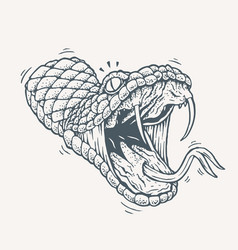 Venomous snake tattoo vector