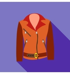Women jacket icon flat style vector image