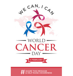 world cancer day greeting card vector image