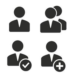 account icon set vector image vector image