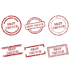 best choice stamps vector image