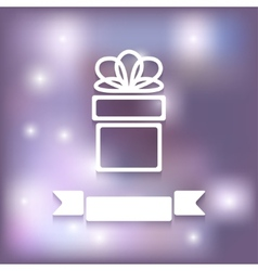 gift on blurred background vector image