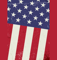 grunge united states of america flag abstract vector image