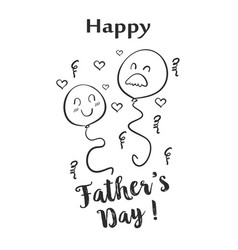 Happy father day hand draw doodle vector