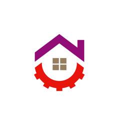 House roof repair business logo vector