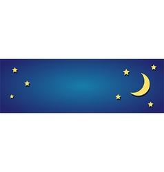 moon sky vector image