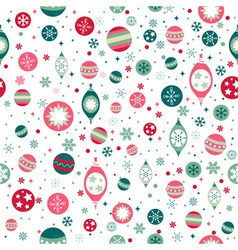Beautiful design Christmas seamless pattern with vector image vector image