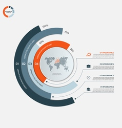 circle infographic template with 4 options vector image vector image