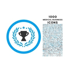 Glory Rounded Icon with 1000 Bonus Icons vector image