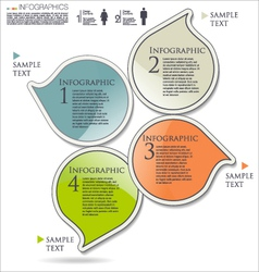 Infographics modern design vector image vector image