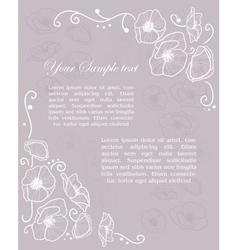 Stylish Vintage Invitation card vector image vector image