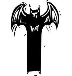 Tall Demon vector image vector image