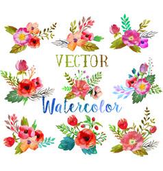 watercolor buttonholes vector image vector image