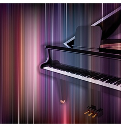 Abstract blue music background with grand piano vector