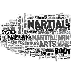 advanced military technology in the martial arts vector image