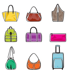 Bags icon set vector image