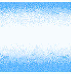 Blue abstract pixel background vector
