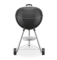 brazier for barbecue 01 vector image