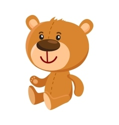 Cute traditional retro style teddy bear character vector image vector image