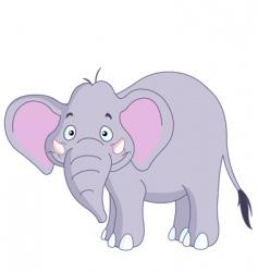 smiley elephant vector image vector image