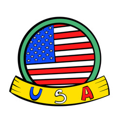 4th of july independence day badge icon cartoon vector image
