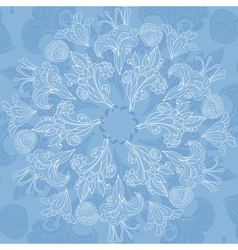 Blue floral ornament background vector image vector image