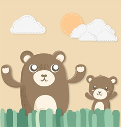 teddy twins vector image vector image