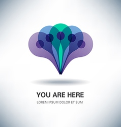 You Are Here Pointer Sign Design vector image vector image
